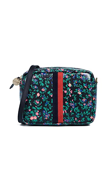 Clare V. Ditsy Floral Desert Stripe Bag