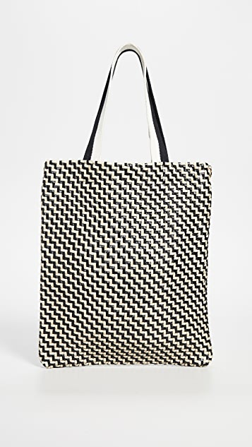 Woven Leather Carryall Bag by Clare V.