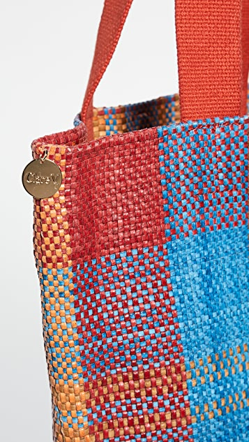 Clare V. Woven Leather Carryall Bag