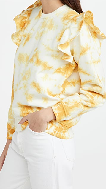Clare V. Ruffle Sweatshirt