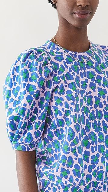 Clare V. Puff Sleeve Sweatshirt
