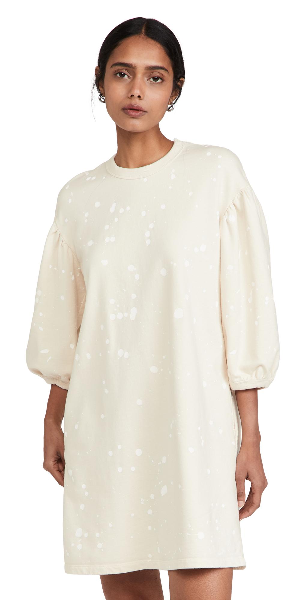 Drop Shoulder Sweatshirt Dress
