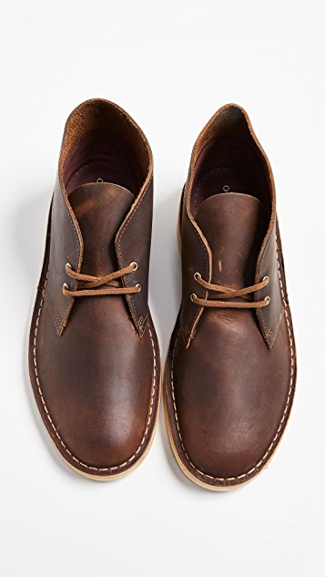 Clarks Leather Desert Boots
