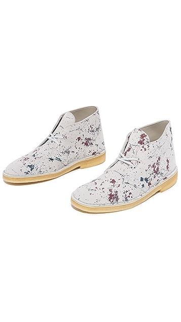 Clarks Paint Splatter Desert Boots