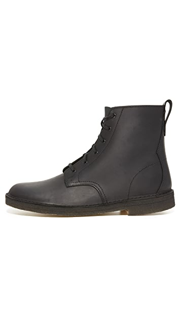 Clarks Leather Desert Mali Boots