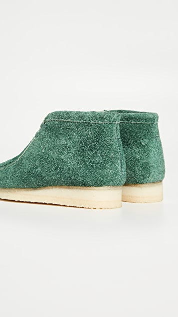 Clarks Hairy Suede Wallabee Boots