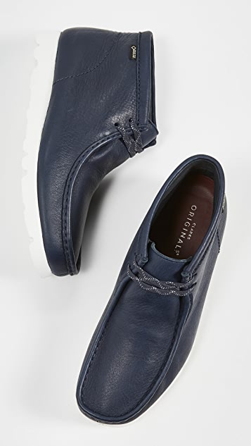 Clarks Goretex Leather Wallabee Boots