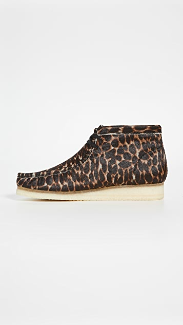 Clarks Animal Print Wallabee Boots