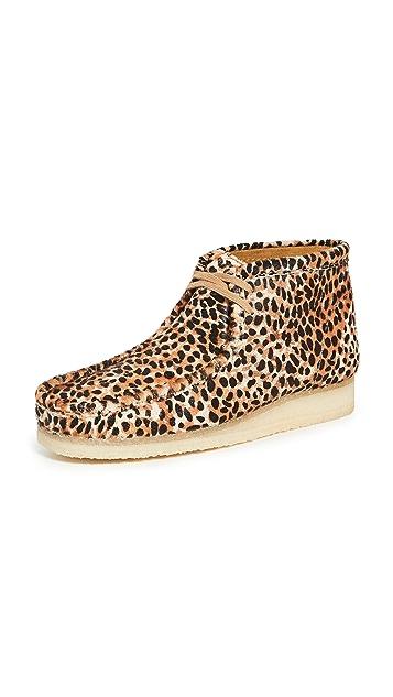 Clarks Animal Print Wallabee Boots