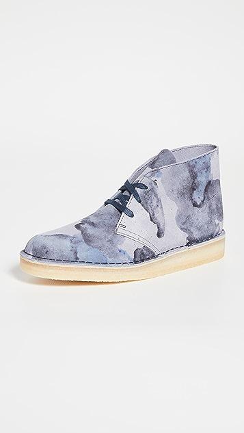 Clarks Camo Desert Coal Boots