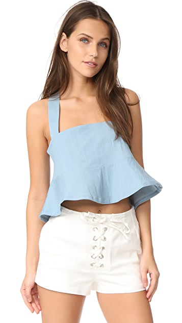 CLAYTON Sunfade Denim Drew Top