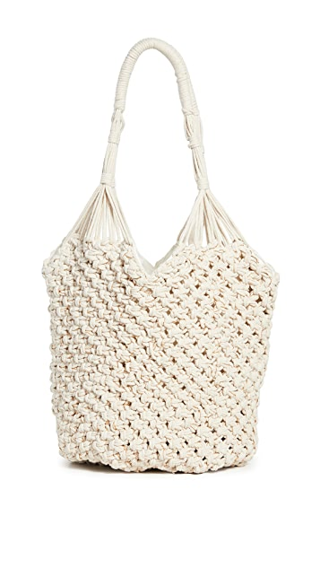 Cleobella Объемная пляжная сумка с короткими ручками Kingston