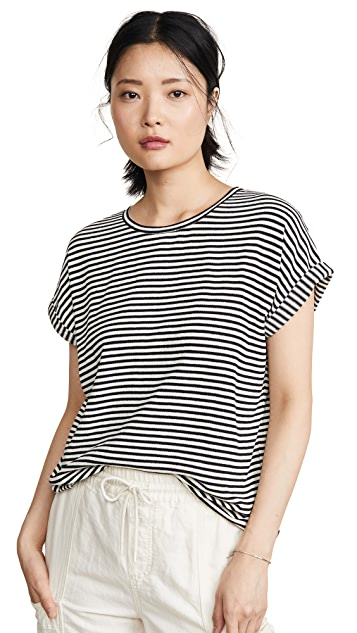 Closed Light Knit Stripe Tee