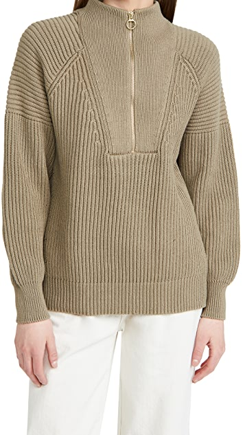 Closed Zip Knit Sweater