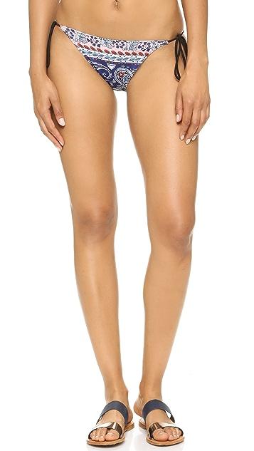 Clover Canyon Oceanic Paisley Tie Side Bikini Bottoms