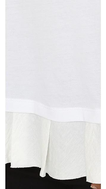Clu Clu Too Ruffled Short Sleeve Top