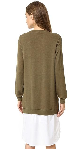 Clu Shirttail Sweatshirt Dress