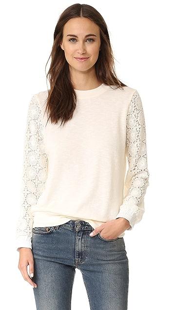 Clu Crochet Sleeved Sweatshirt