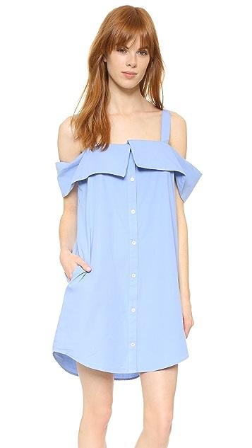 Clu Off The Shoulder Shirtdress