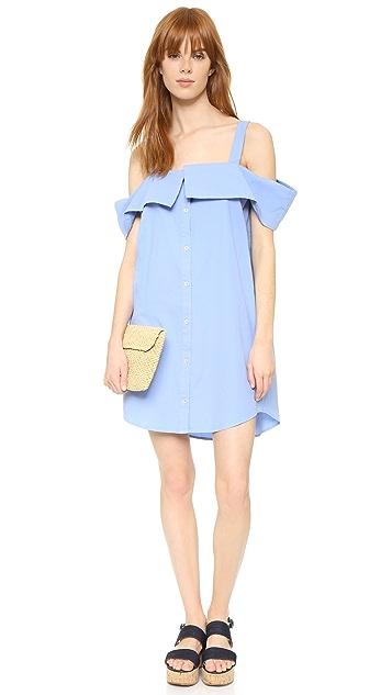 Clu Платье-рубашка с открытыми плечами