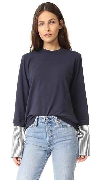 Clu Mix Media Sweatshirt with Lace Panel