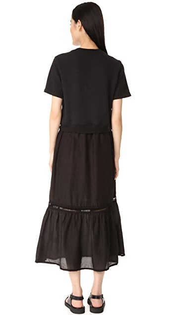 Clu Mix Media Sweatshirt Dress
