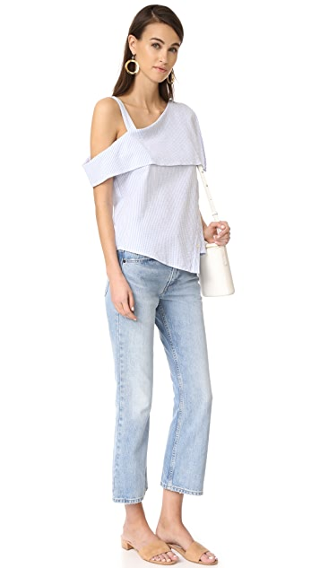 Clu Asymmetrical Off the Shoulder Top
