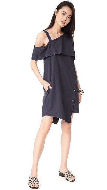 Clu Asymmetrical Off the Shoulder Dress