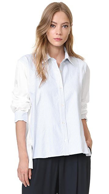 Clu Stripe Pleated Shirt