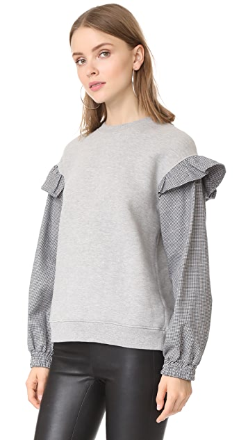 Clu Clu Too Sweatshirt with Contrast Sleeves