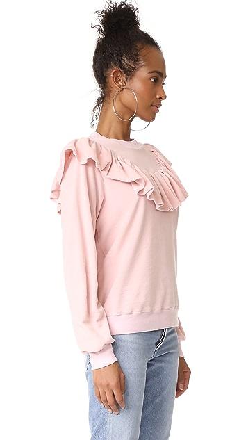 Clu Clu Too Ruffle Trimmed Sweatshirt