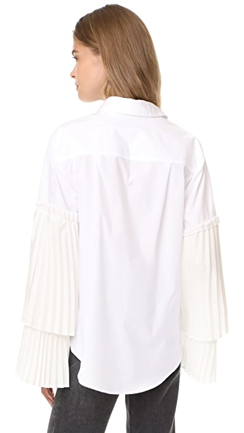Clu Blouse with Pleated Sleeves