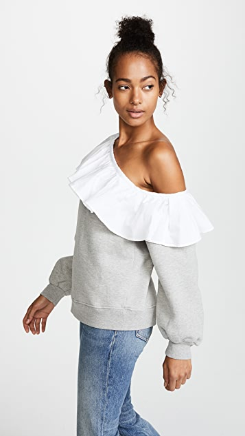 Clu One Shoulder Sweatshirt