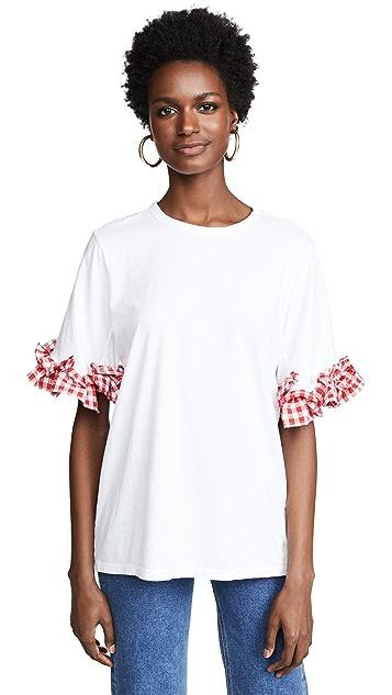 Clu T-Shirt with Gingham Ruffles
