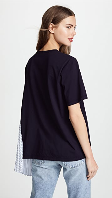 Clu T-Shirt with Stripe Pleats