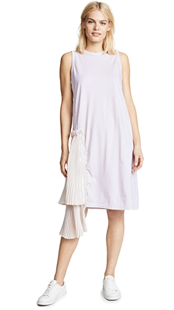 Clu T-Shirt Dress with Pleats
