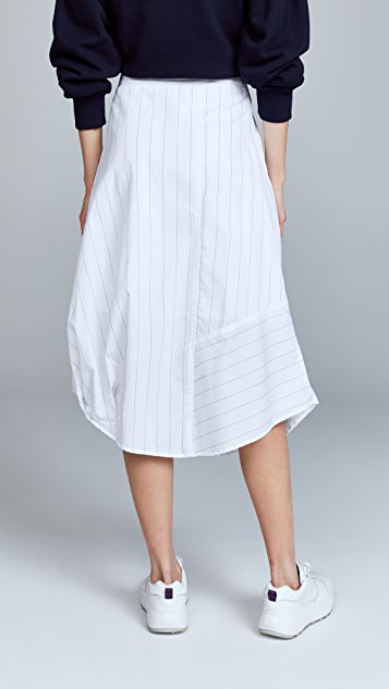 Clu Stripe Paneled Skirt
