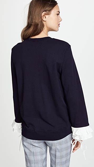 Clu Sweatshirt with Contrast Ruffles