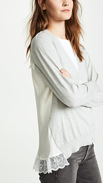 Clu Pleat Back Cardigan