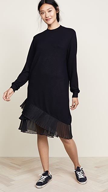 Clu Contrast Pleated Dress