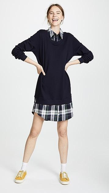 Clu Plaid Collar Dress