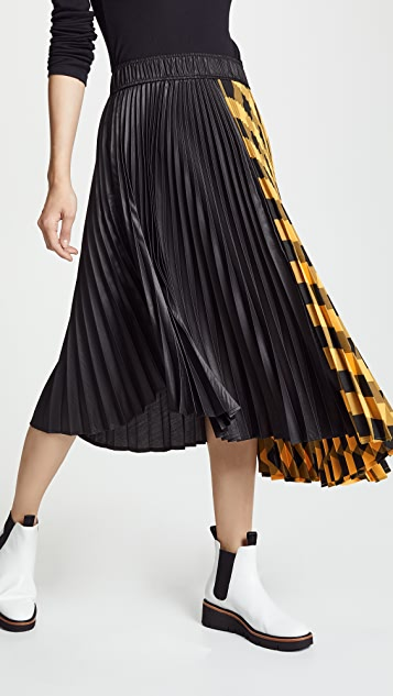 6d84326b07 Clu Colorblock Pleated Skirt | SHOPBOP