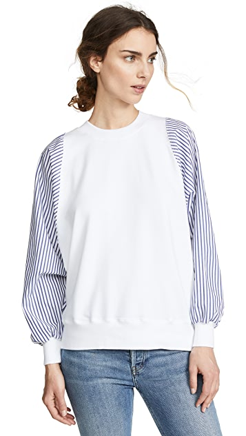 Clu Striped Dolman Sleeve Pullover