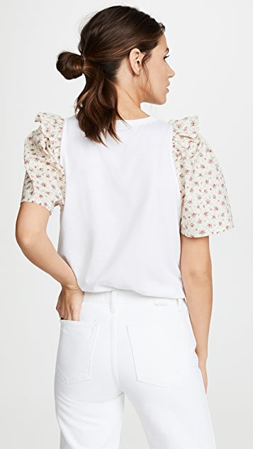 Clu Flower Print Sleeve Top