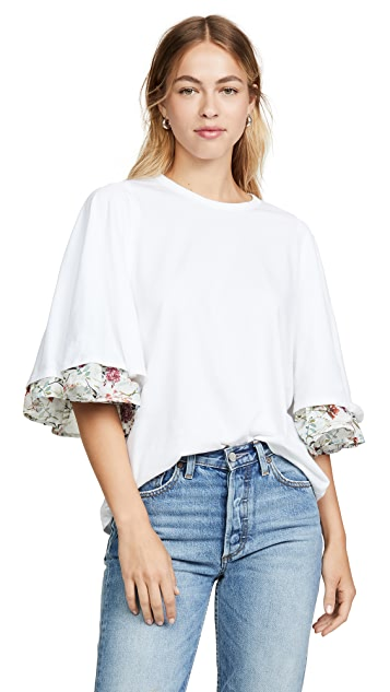 Clu Bell Sleeve Floral Print T-Shirt
