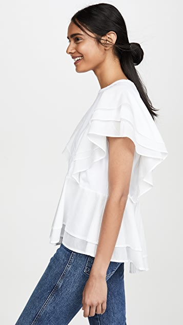 Clu Multi Ruffle Top