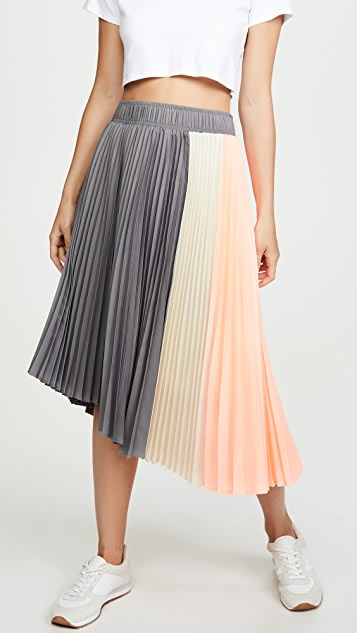 Paneled Pleated Skirt by Clu