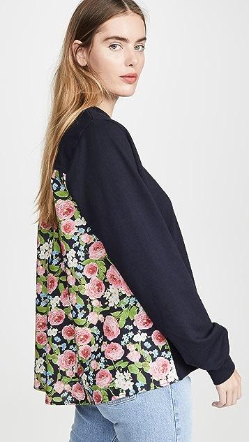 Clu Пуловер со вставкой с цветочным рисунком