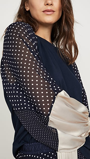 Clu Contrast Sleeve Top