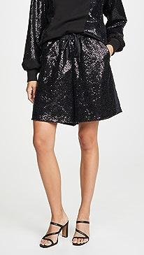 Sequin Paneled Shorts